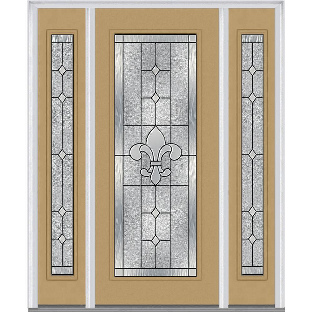 68.5 in. x 81.75 in. Carrollton Decorative Glass Full Lite Painted
