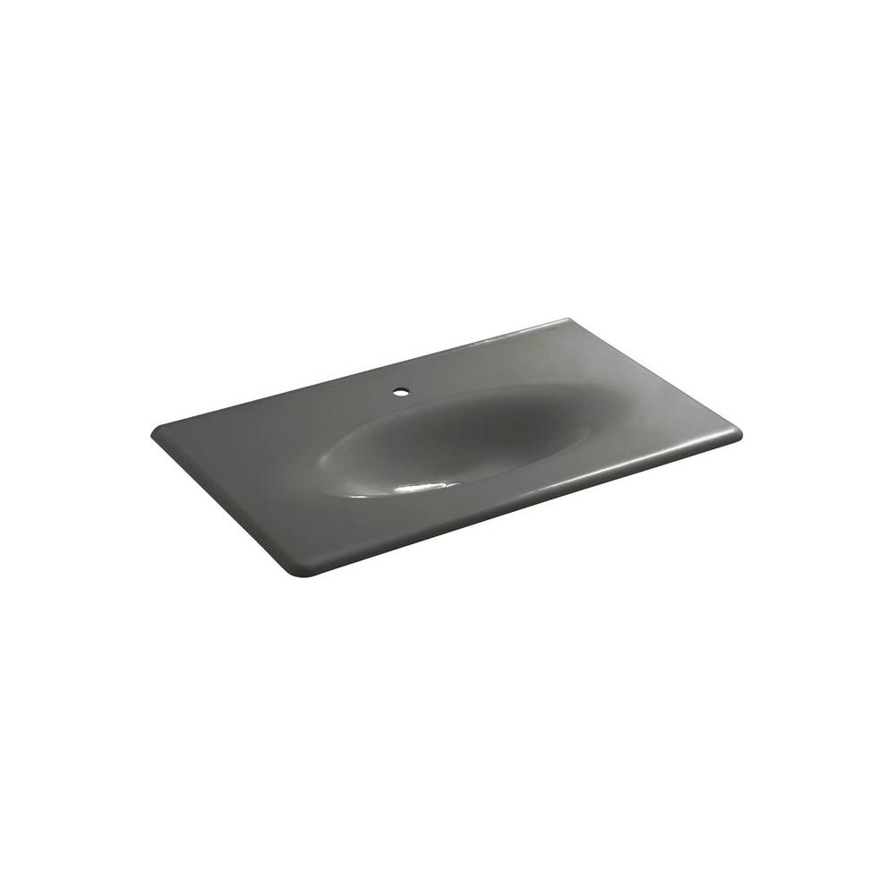 KOHLER Iron/Impressions Vanity Top Bathroom Sink in Thunder Grey-DISCONTINUED