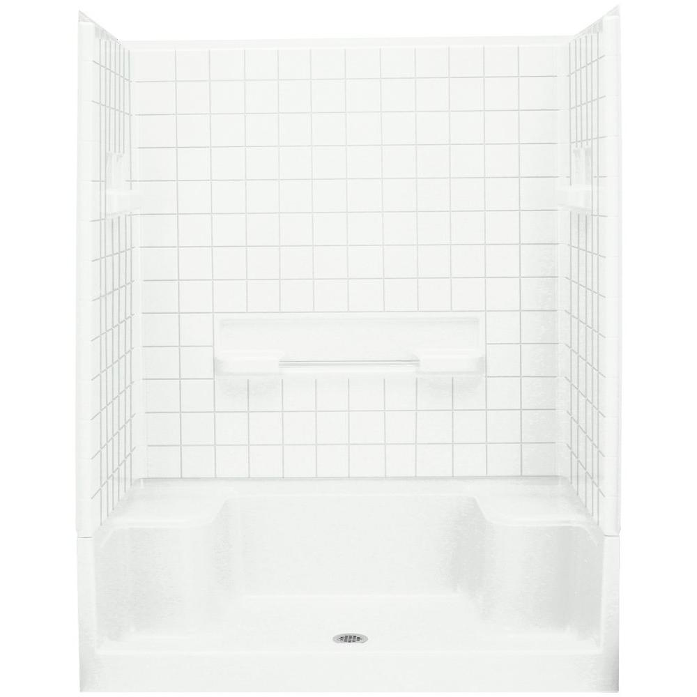 Advantage 35-1/4 in. x 60 in. x 76 in. Shower Kit