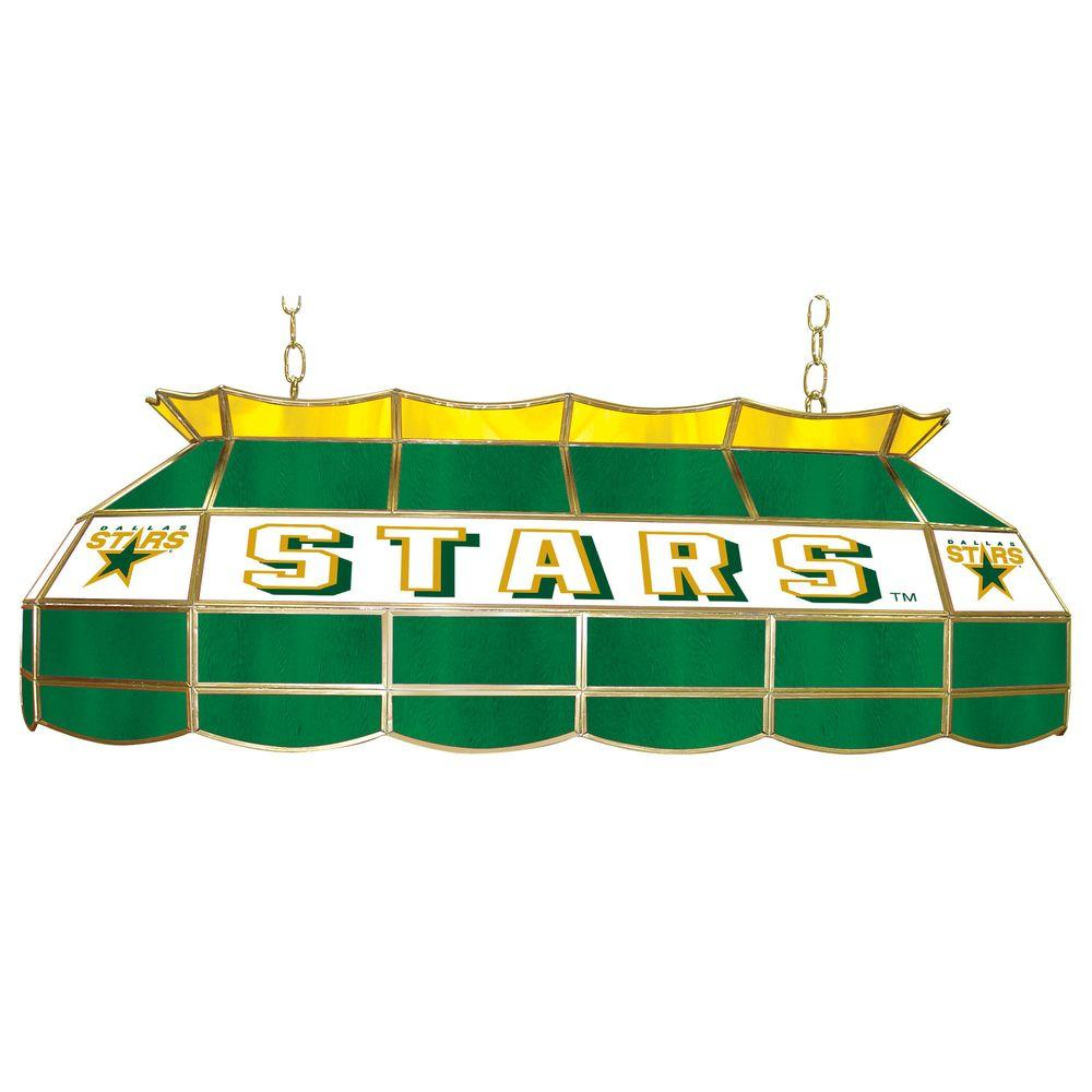 Trademark NHL Dallas Stars 3-Light Stained Glass Tiffany Lamp