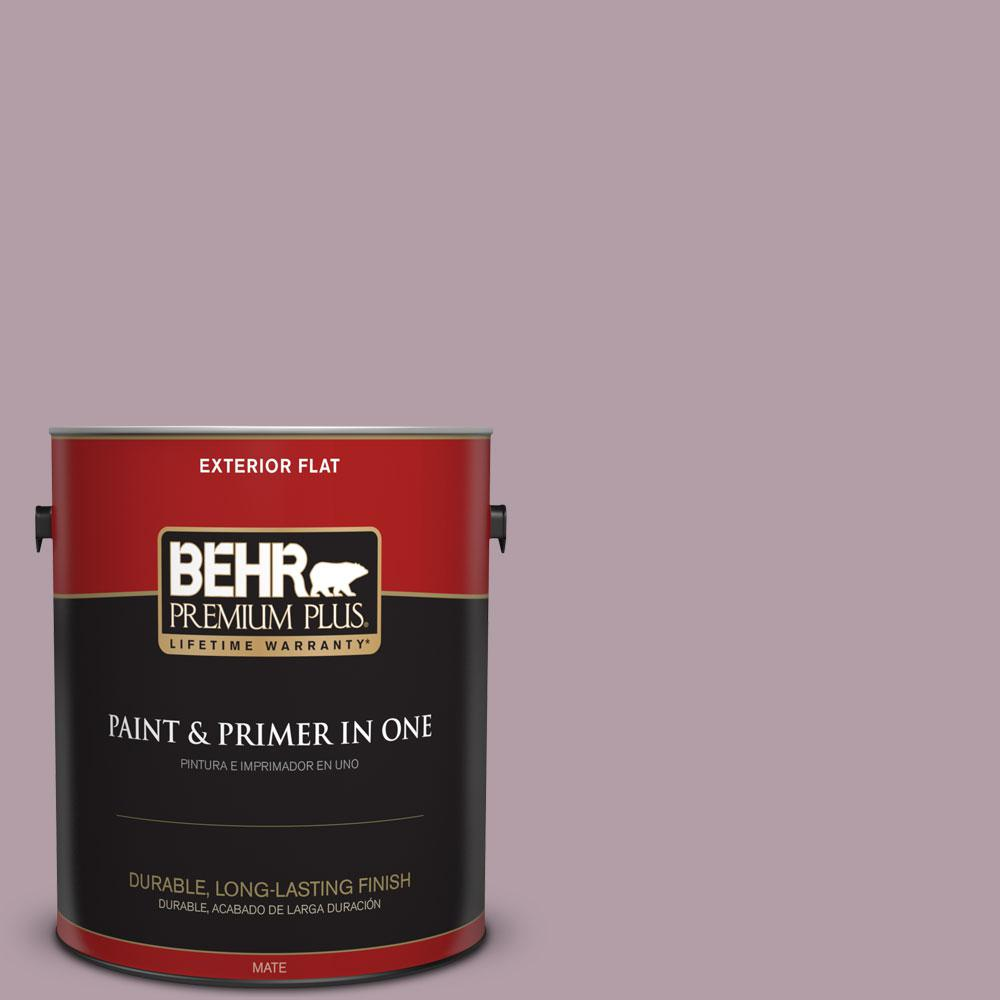 1-gal. #PMD-34 Wild Lilac Flat Exterior Paint