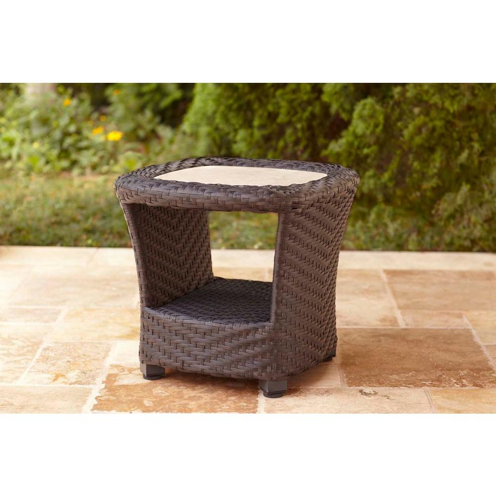 Brown Jordan Highland Patio Occasional Table STOCK-D10035-TA - The Home Depot