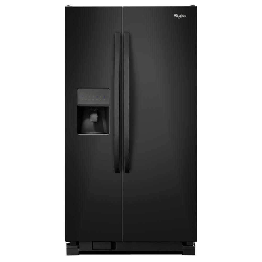 Whirlpool 24.5 cu. ft. Side by Side Refrigerator in Black-WRS325FDAB -