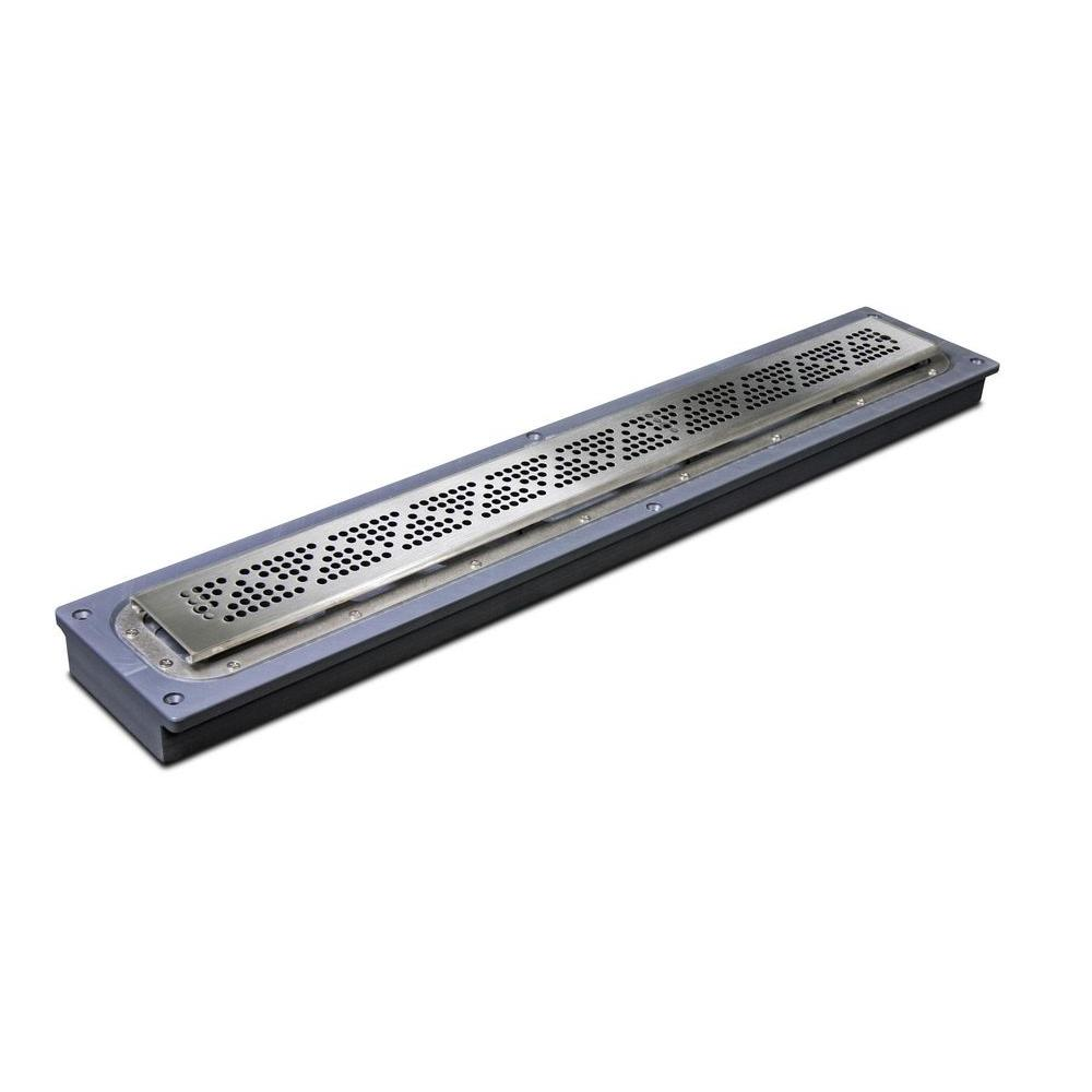 Sioux Chief 60 in. Steel Linear Shower Drain-823-60PSP - The Home