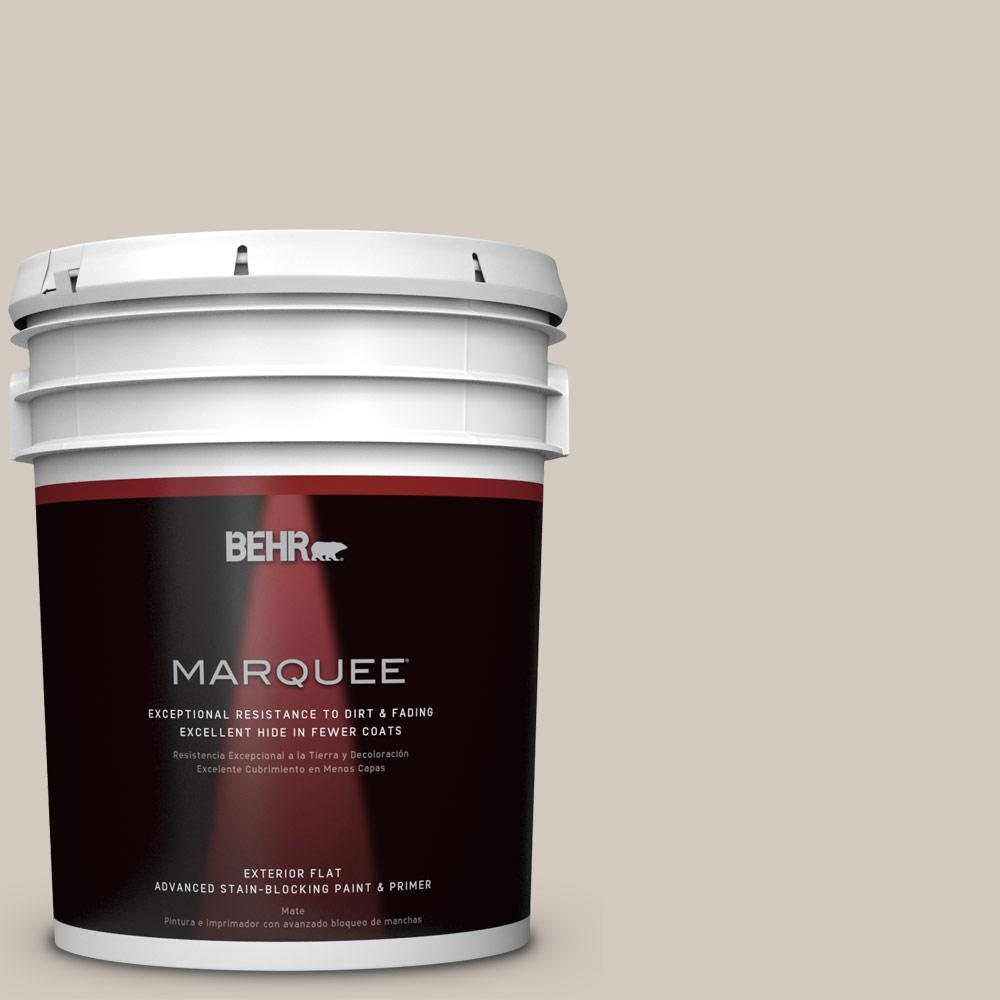 BEHR MARQUEE 5-gal. #N320-2 Toasty Gray Flat Exterior Paint-445005 - The