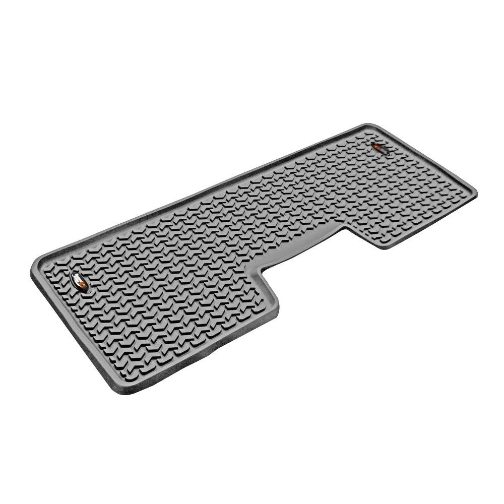 Rugged Ridge Floor Liner Rear 1-Piece Gray 2009-2013 Ford F150 Extended and Crew Cab