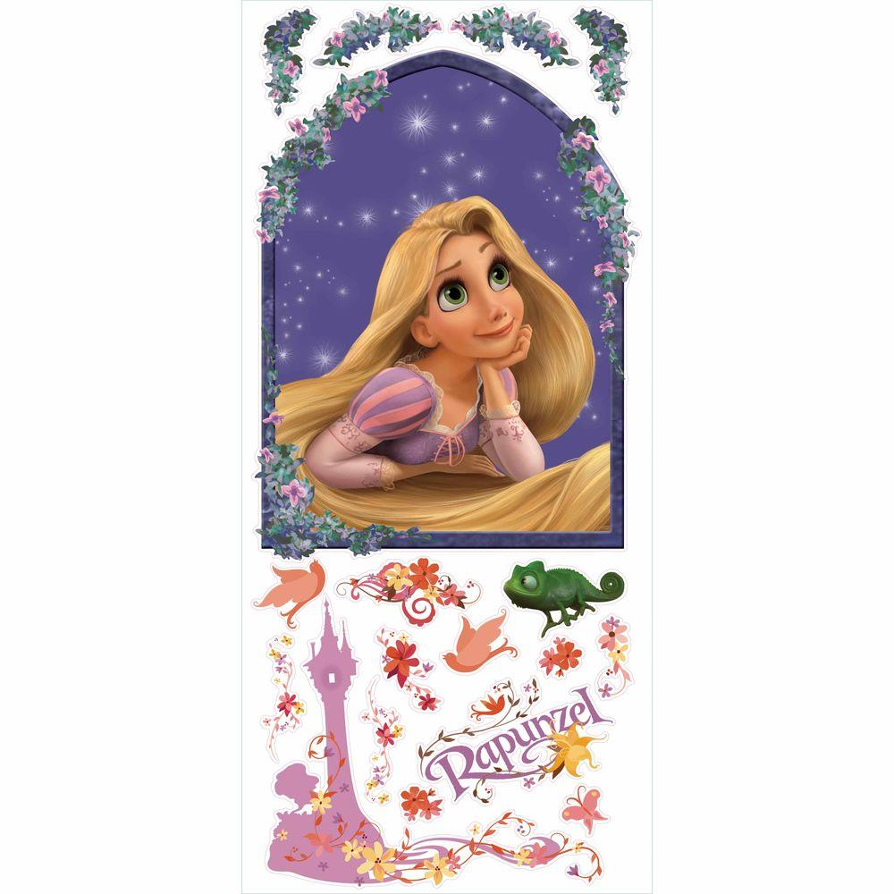 RoomMates 5 in. x 19 in. Rapunzel 18-Piece Peel and Stick Giant Wall Decal