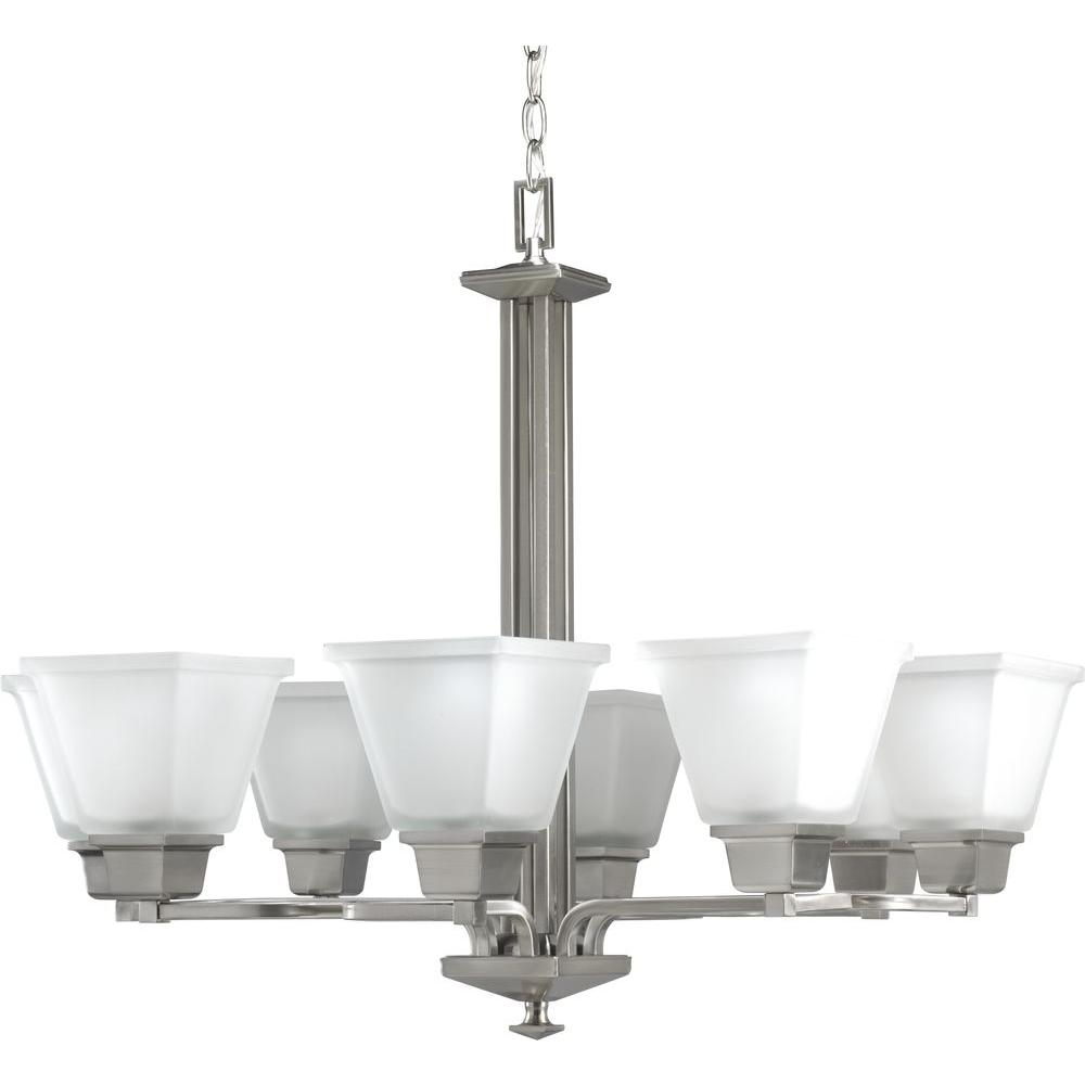 North Park Collection 8-Light Brushed Nickel Chandelier