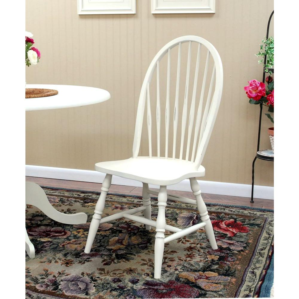 Carolina Cottage Windsor Dining Chair in Antique Ivory