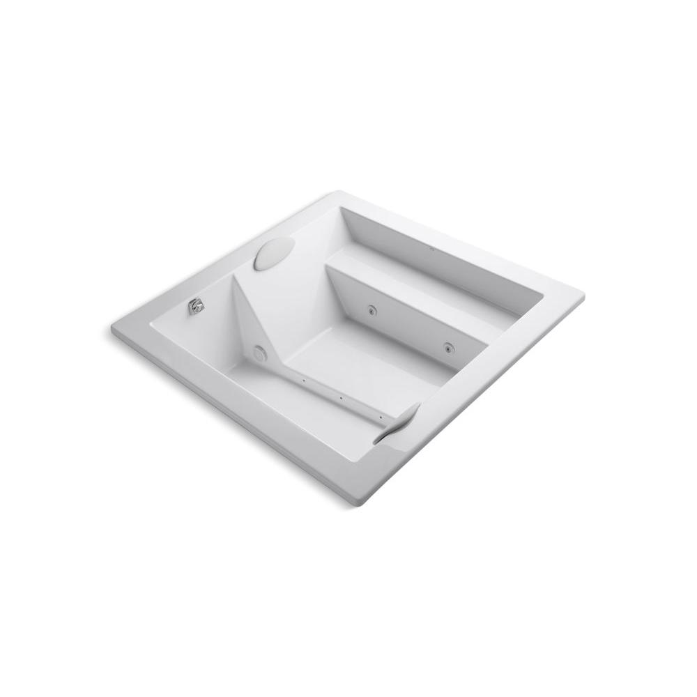 Consonance 5.75 ft. Acrylic Square Drop-in Whirlpool Bathtub in White