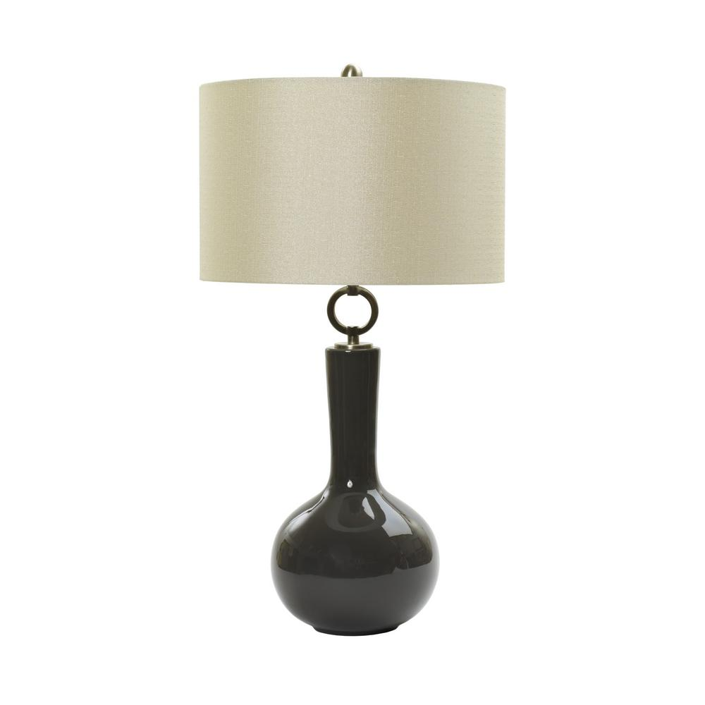 Fangio Lighting 30 in. Ceramic Table Lamp in a Charcoal-W-MR8911CHARCOAL -