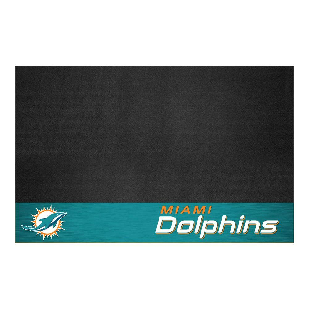 Miami Dolphins 26 in. x 42 in. Grill Mat