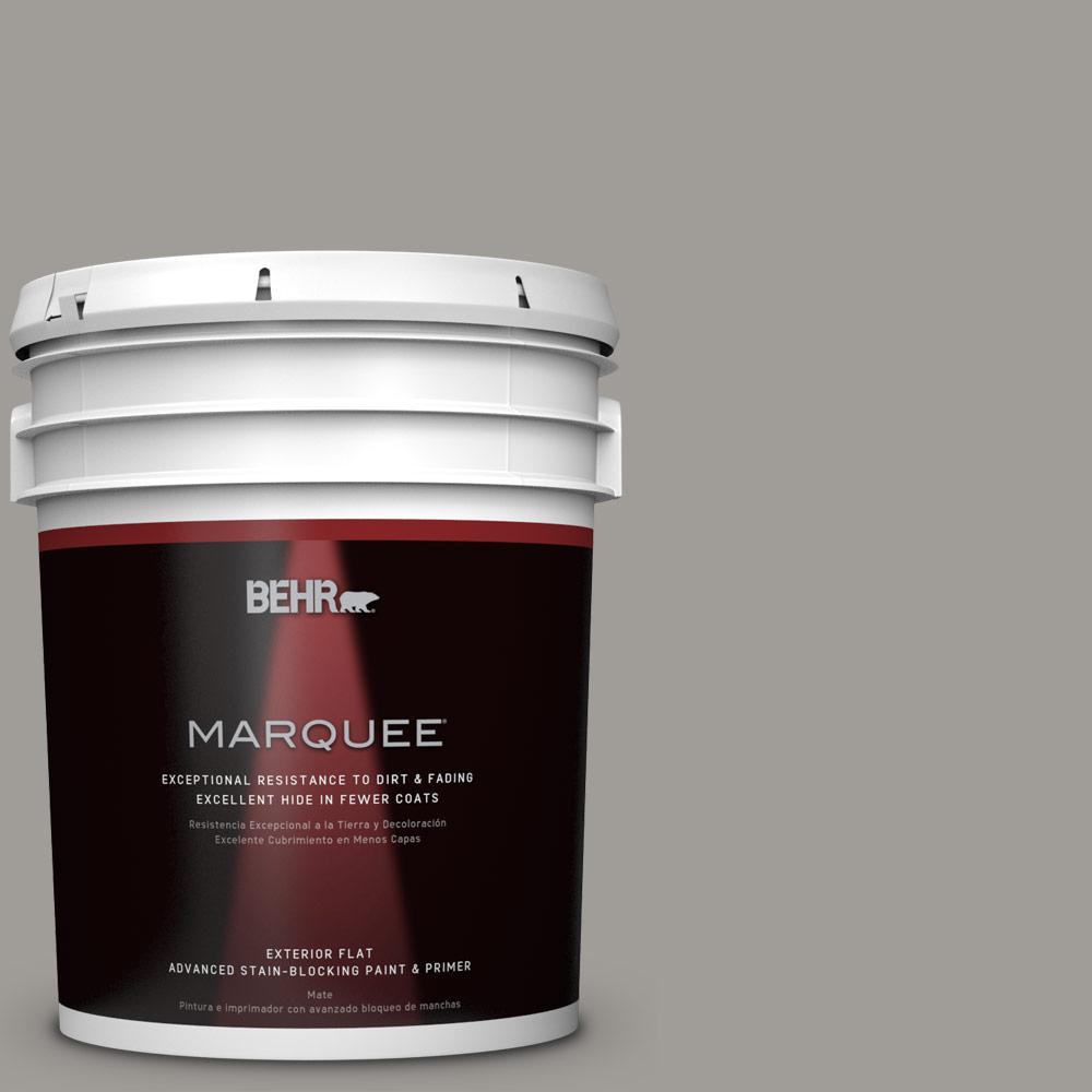 BEHR MARQUEE 5-gal. #BNC-17 Casual Gray Flat Exterior Paint-445405 - The