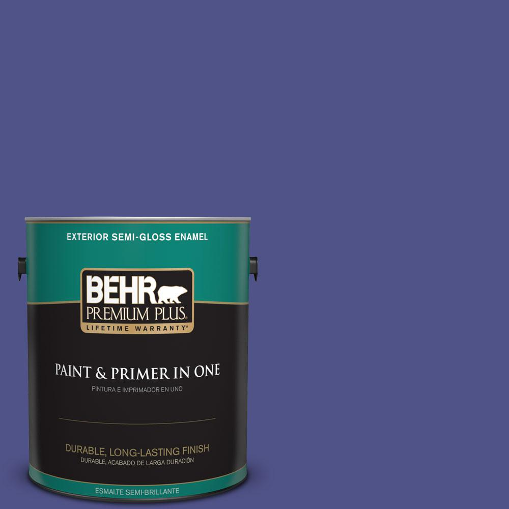 1-gal. #P550-7 Purple Prince Semi-Gloss Enamel Exterior Paint