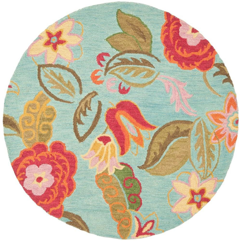 Safavieh Blossom Blue/Multi 4 ft. x 4 ft. Round Area Rug-BLM675A-4R