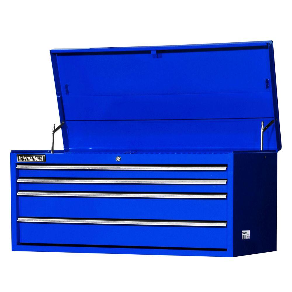 Workshop Series 42 in. 4-Drawer Top Chest, Blue