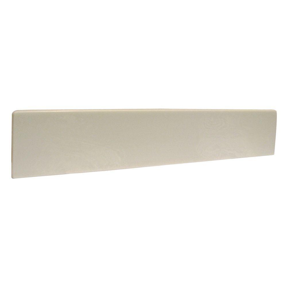21-1/2 in. Cultured Marble Universal Sidesplash in White on White