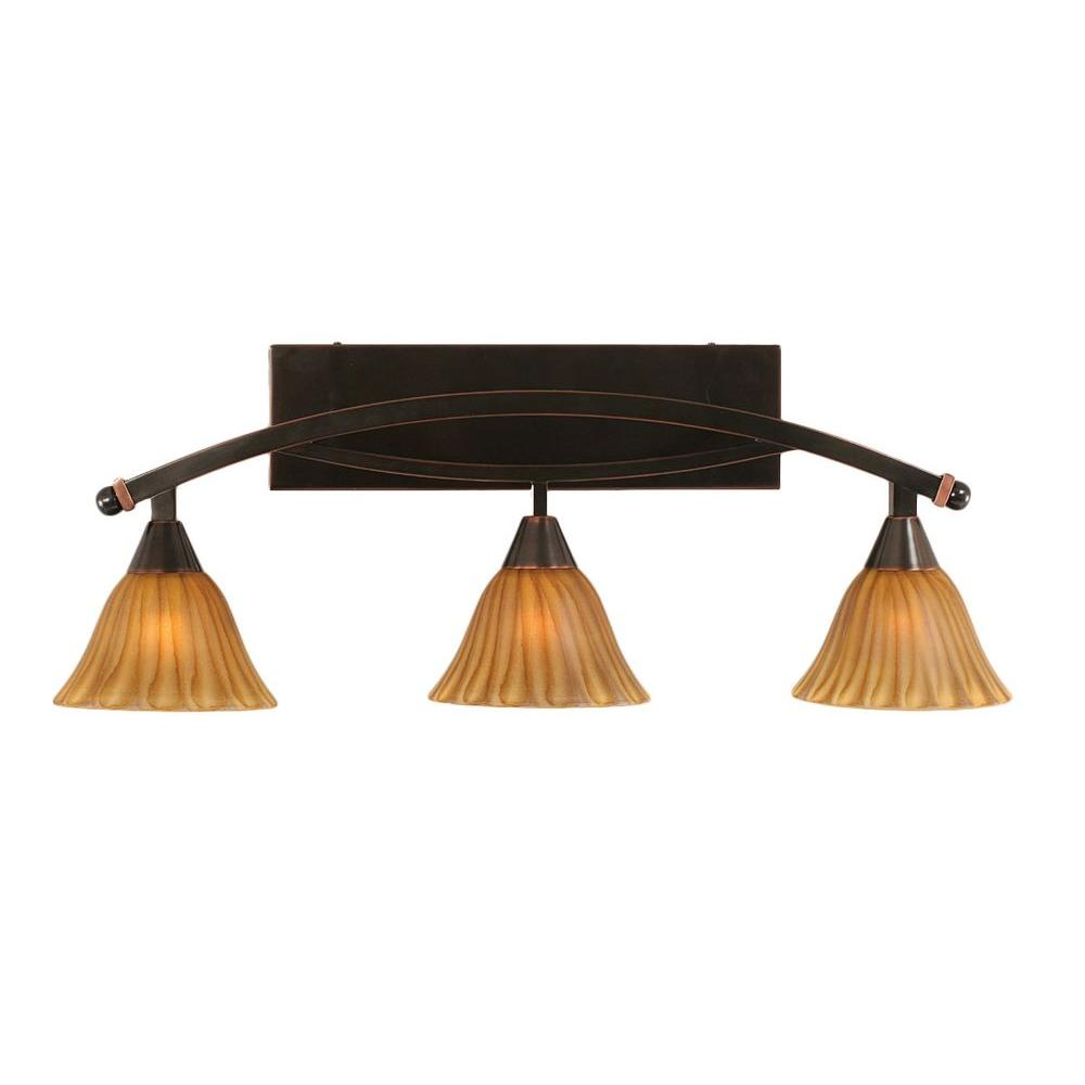 Concord 3-Light Black Copper Bath Vanity Light