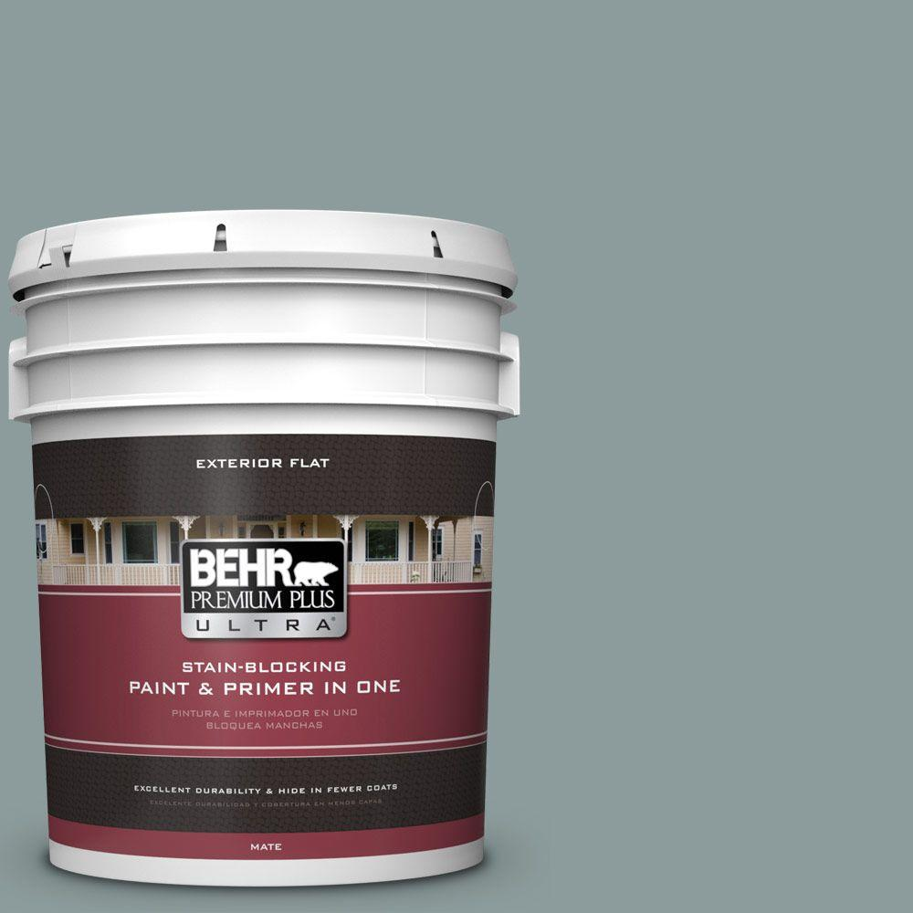 Home Decorators Collection 5-gal. #HDC-AC-23 Provence Blue Flat Exterior Paint