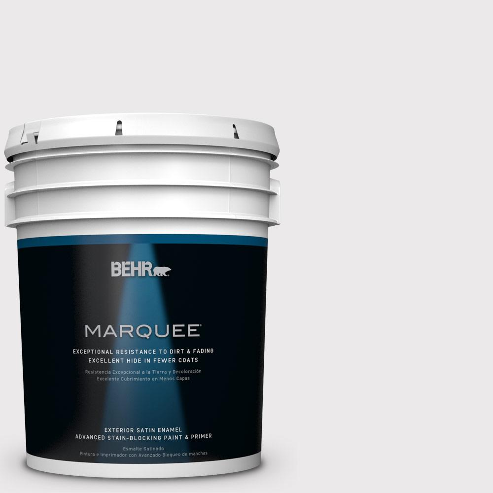 BEHR MARQUEE 5-gal. #W-D-620 Pale Bud Satin Enamel Exterior Paint