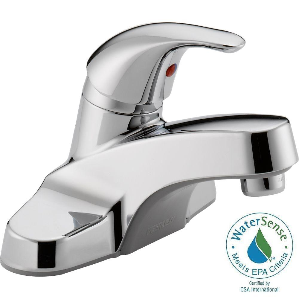 Peerless Core 4 in. Centerset Single-Handle Bathroom Faucet in Chrome-P131LF -