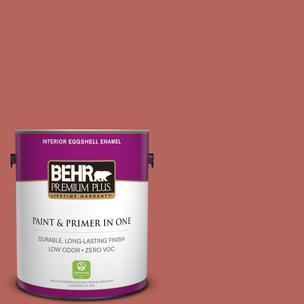 1-gal. #180D-6 Mineral Red Zero VOC Eggshell Enamel Interior Paint