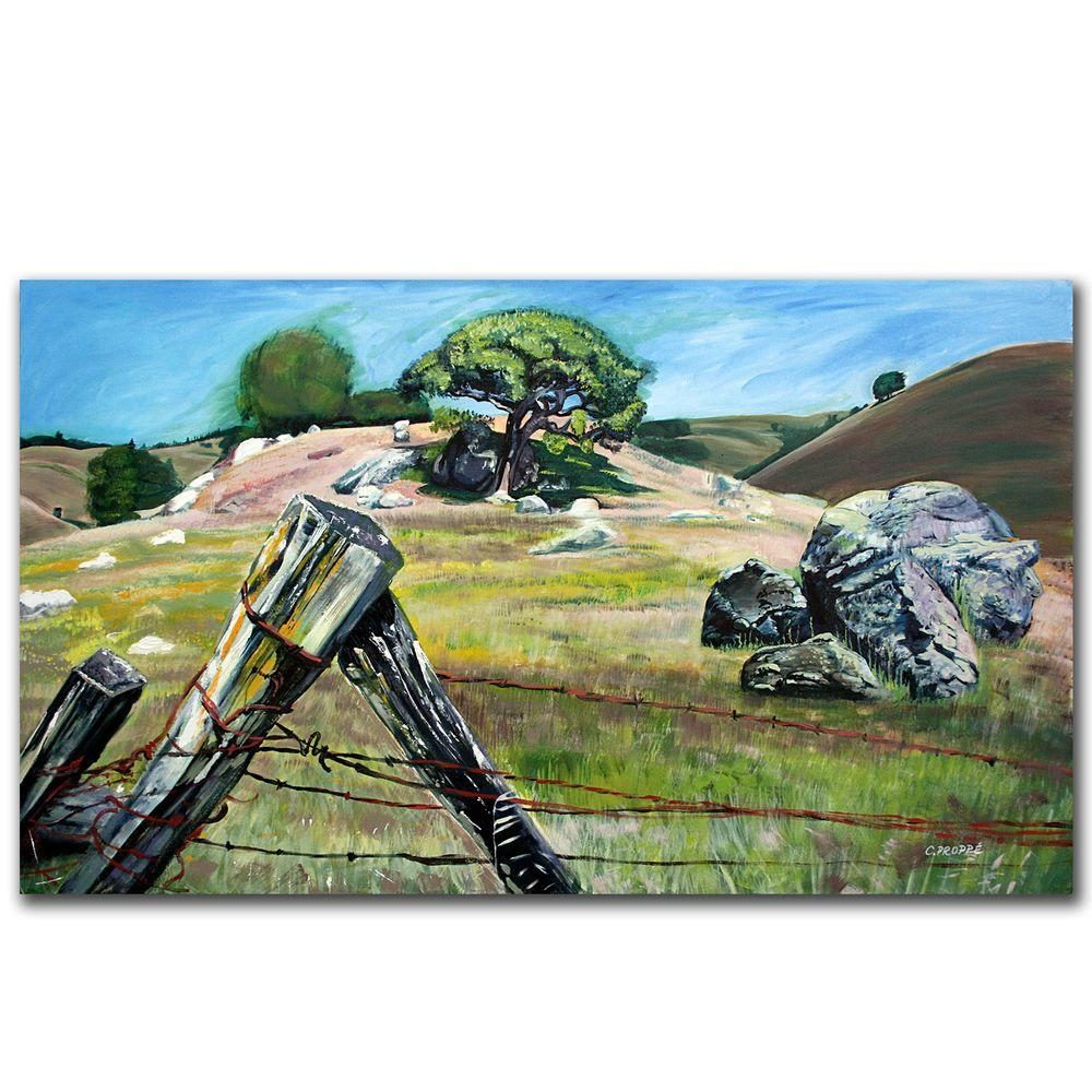 18 in. x 32 in. Nicasio Fence Post Canvas Art