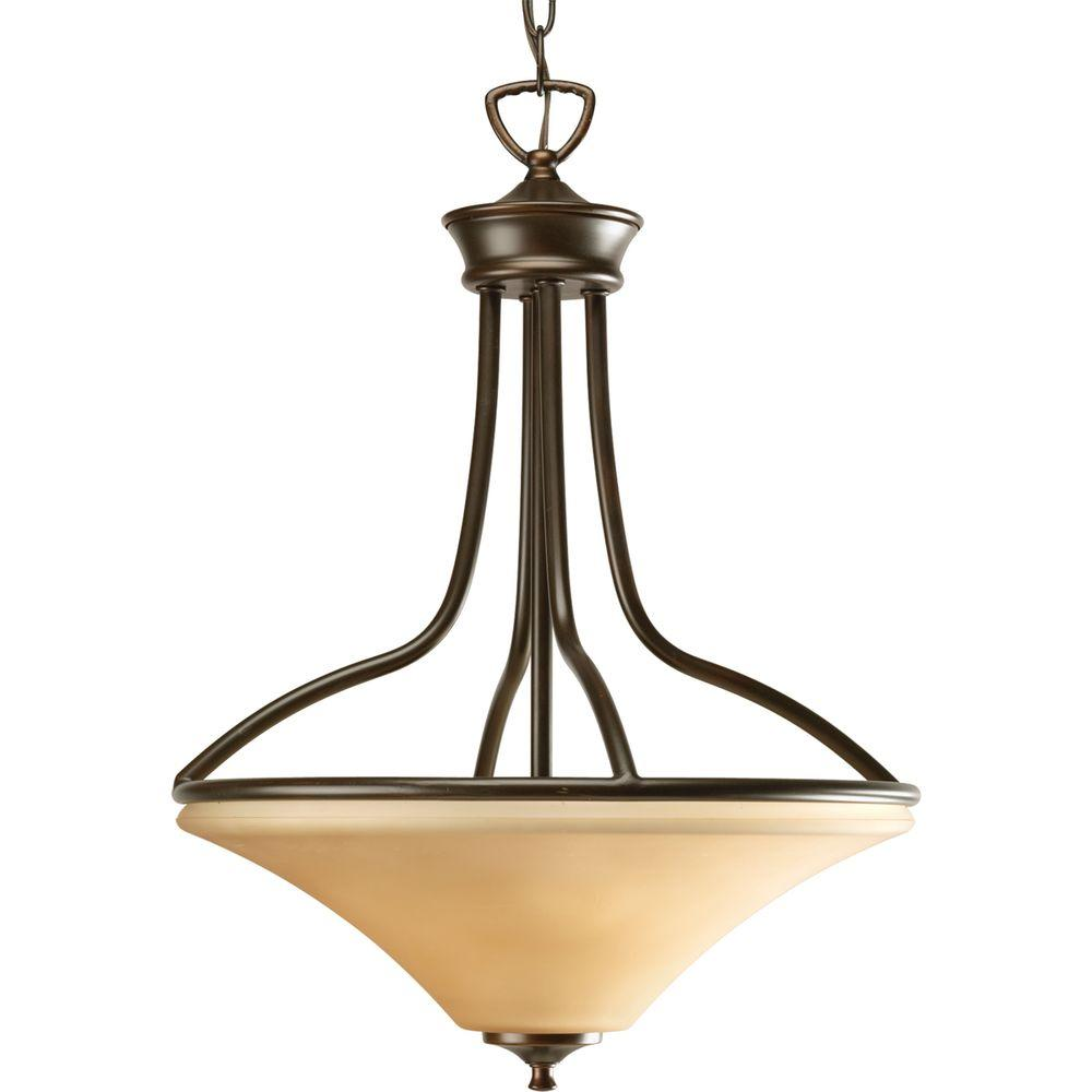 Progress Lighting Janos Collection Antique Bronze 3-light Foyer Pendant-DISCONTINUED