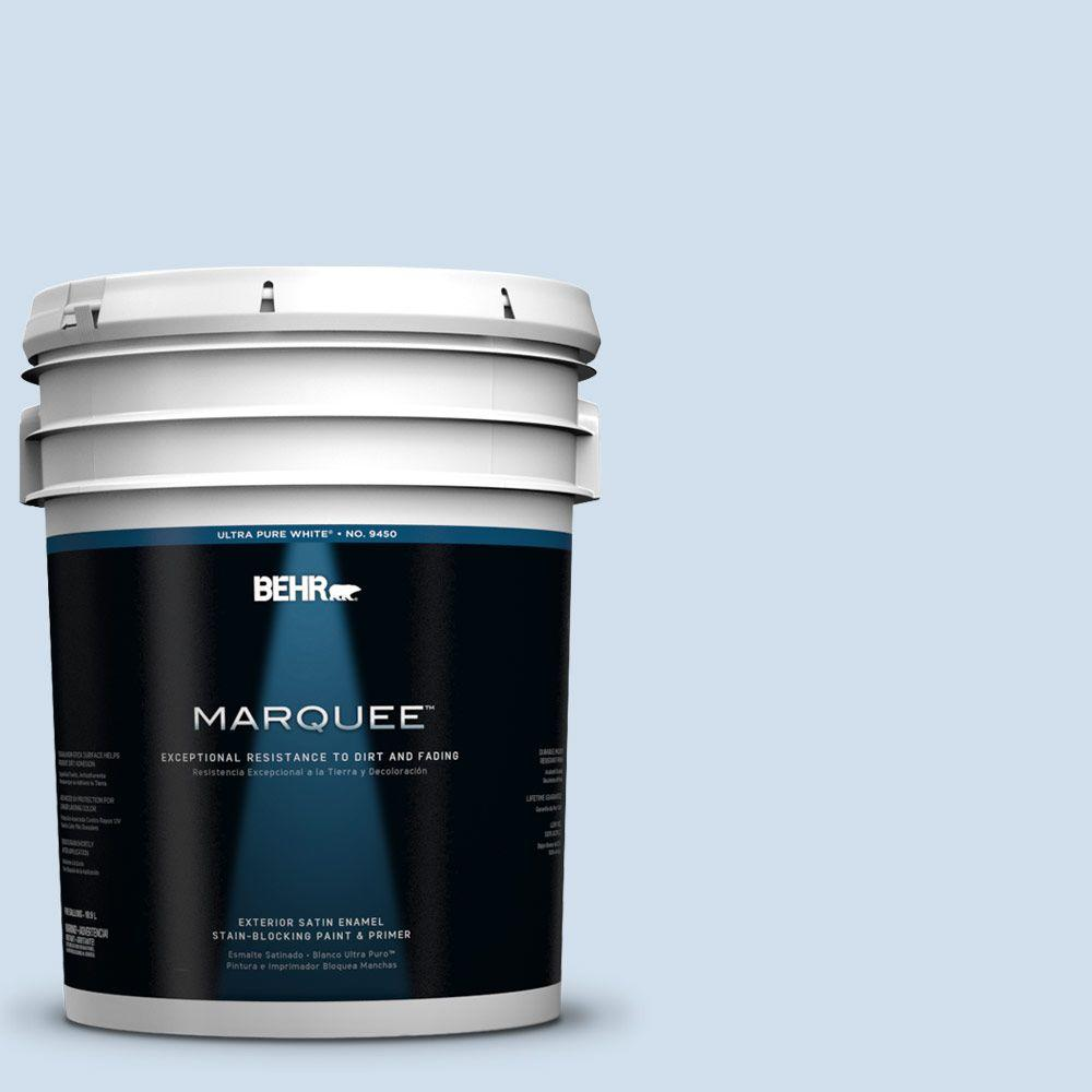 BEHR MARQUEE 5-gal. #560A-1 Pale Sky Satin Enamel Exterior Paint