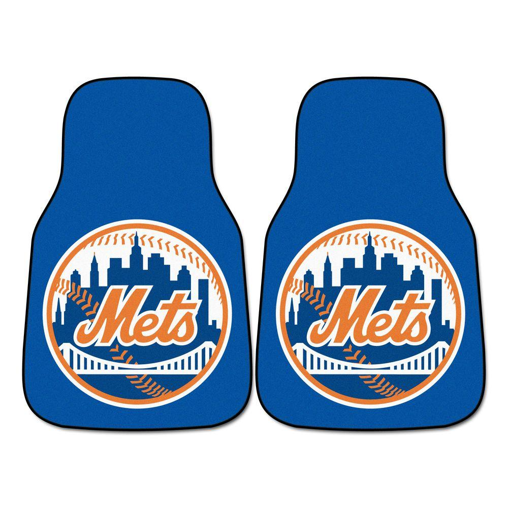 New York Mets 18 in. x 27 in. 2-Piece Carpeted Car