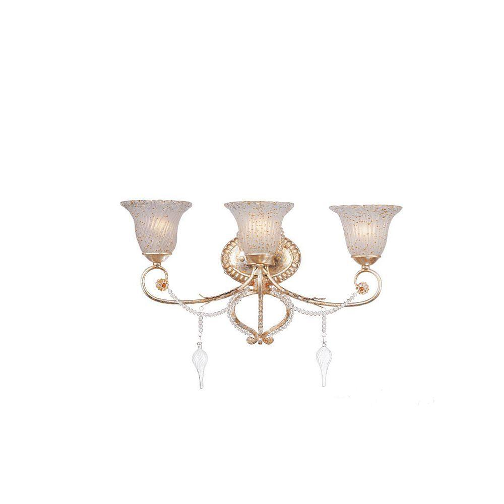 Hampton Bay Allure 3-Light Antique Silver Wall Sconce