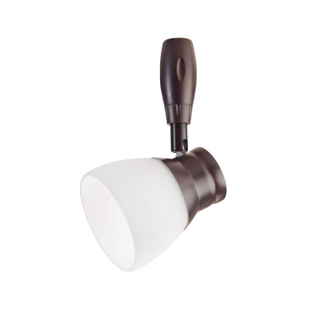 Bronze LED Flex Track Head Lighting with Frosted Glass