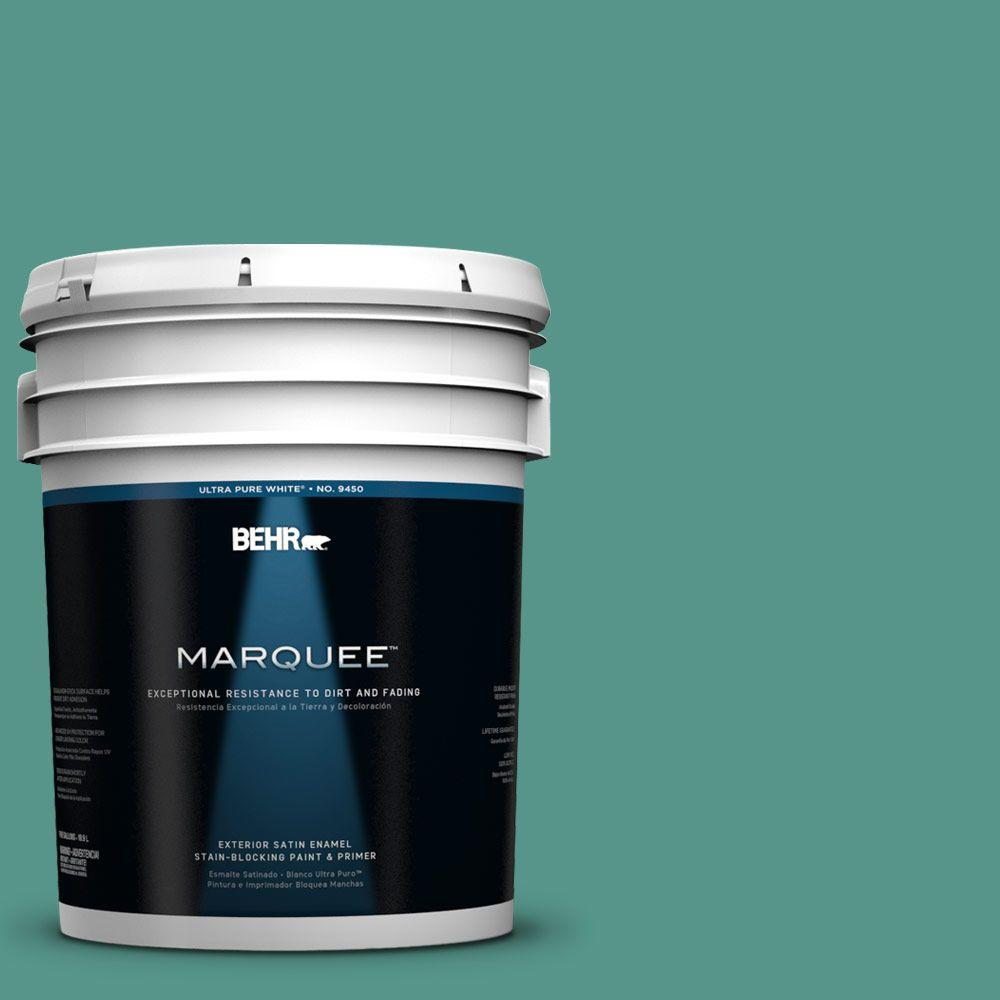 BEHR MARQUEE 5-gal. #490D-6 Thermal Spring Satin Enamel Exterior Paint
