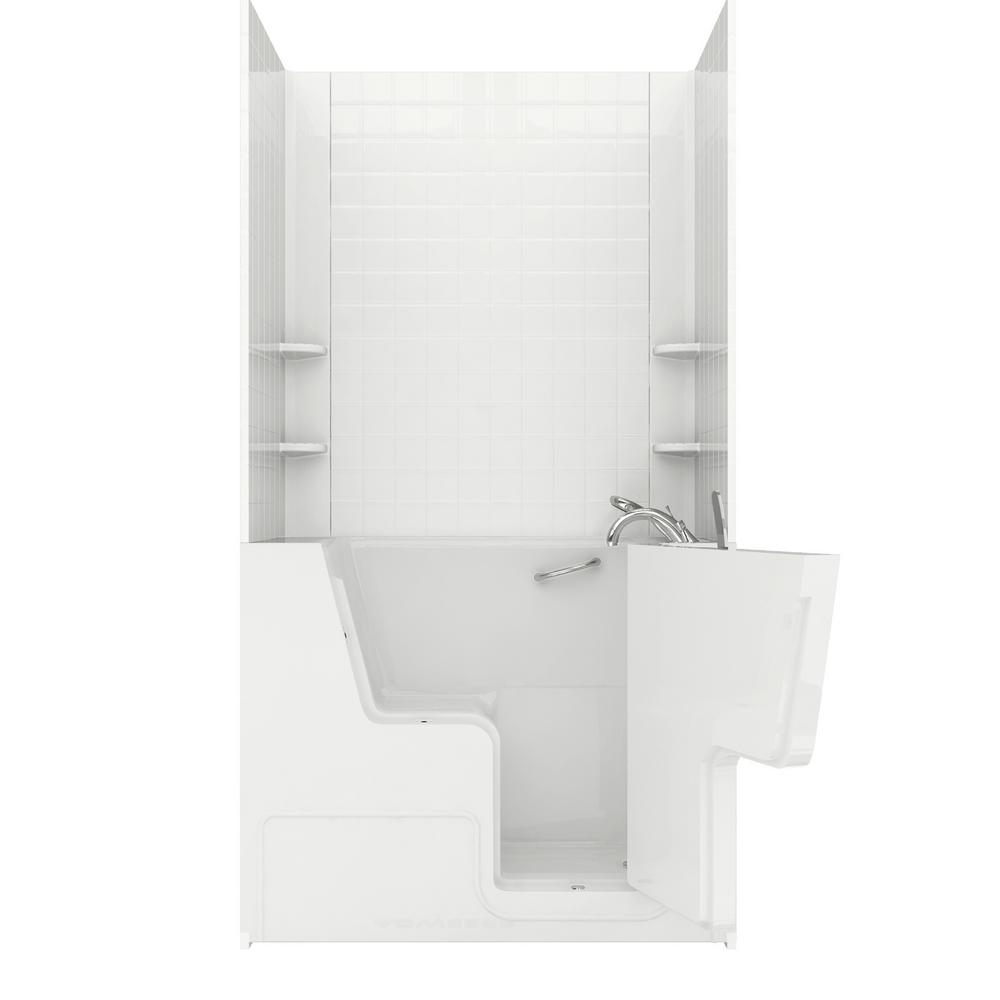 NOVA Heated Wheelchair Accessible 4.5 ft. walk-in bathtub with 4 in.