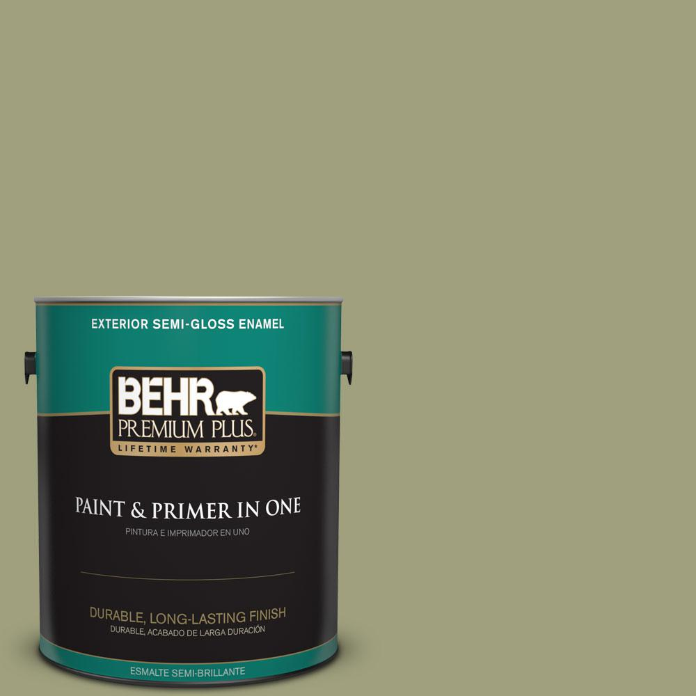 1-gal. #BIC-57 French Parsley Semi-Gloss Enamel Exterior Paint