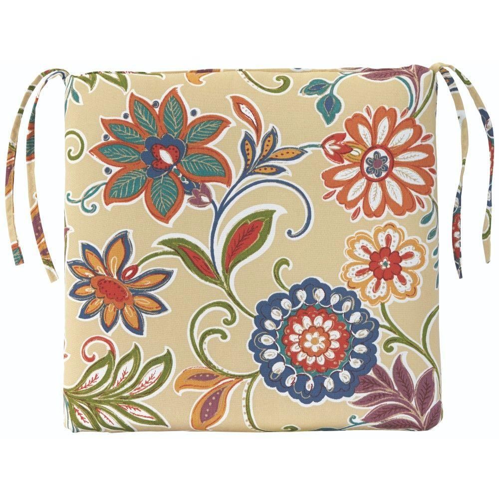 Home Decorators Collection Alinea Garden Outdoor Seat Cushion-1572820130 - The