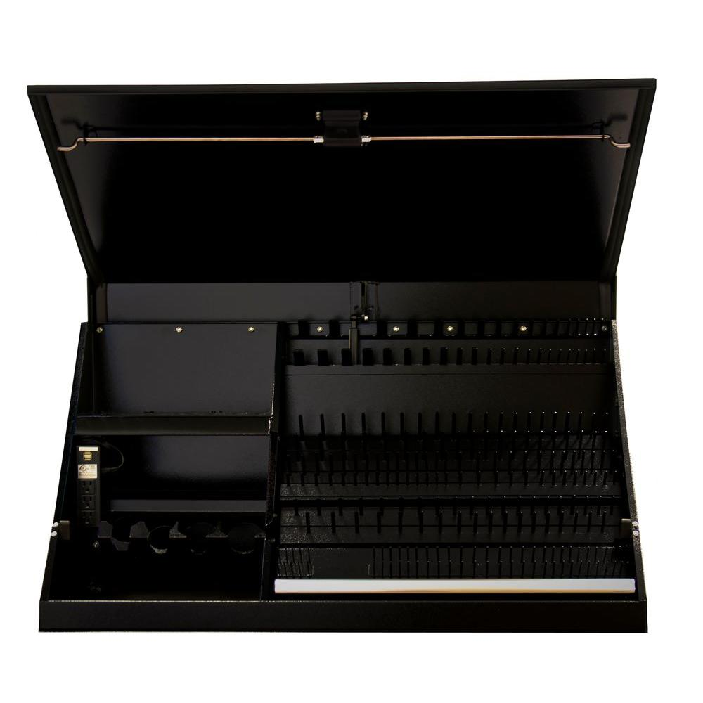 41 in. Portable Workstation, Textured Black