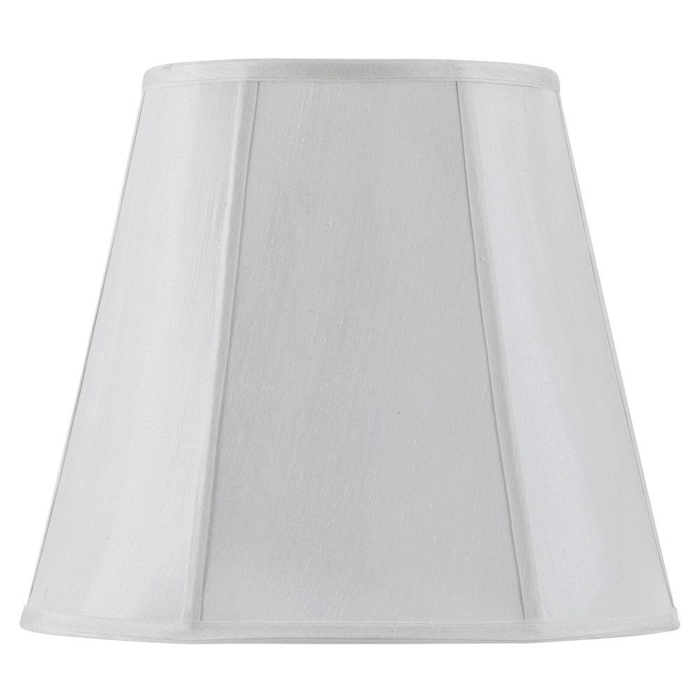 CAL Lighting 11 in. White Fabric Vertical Piped Coolie Shade