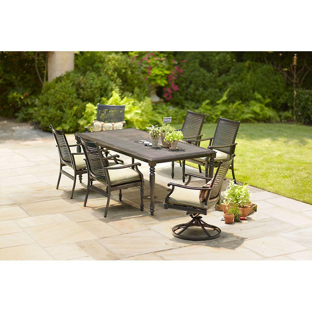 Martha Stewart Living Pembroke 7-Piece Patio Dining Set-DISCONTINUED