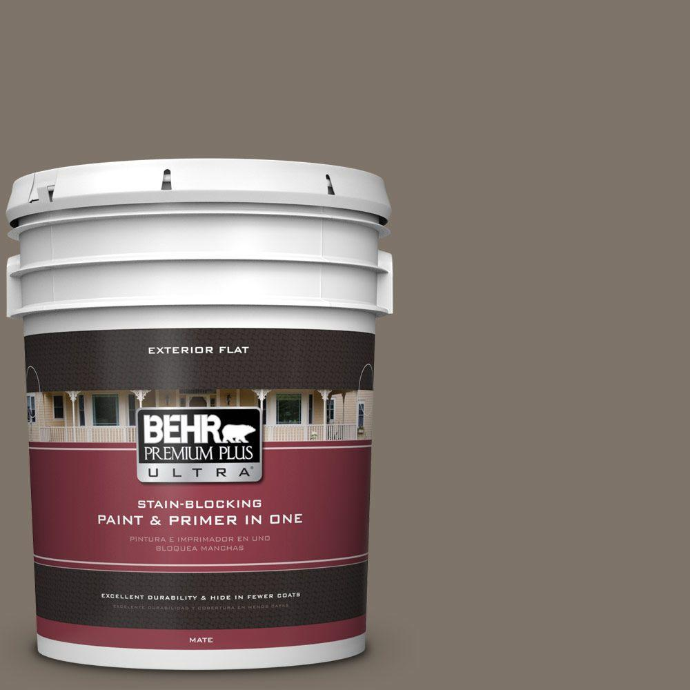 BEHR Premium Plus Ultra Home Decorators Collection 5-gal. #HDC-NT-05 Aged Olive Flat Exterior Paint