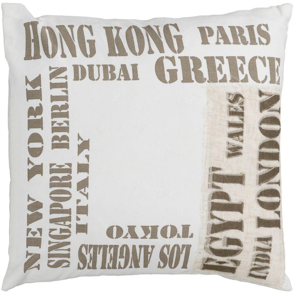 Artistic Weavers Cities2 22 in. x 22 in. Decorative Down Pillow
