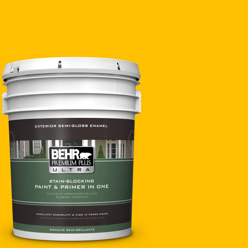 BEHR Premium Plus Ultra 5-gal. #360B-7 Center Stage Semi-Gloss Enamel Exterior Paint