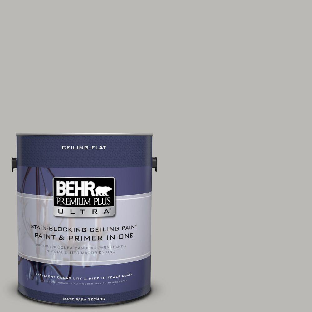 BEHR Premium Plus Ultra 1-gal. #PPU18-11 Ceiling Tinted to Classic Silver Interior Paint