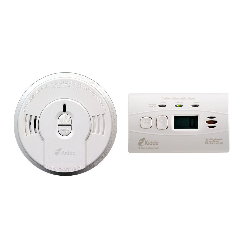 10 Year Battery-Operated Digital Combination Smoke and CO Alarm Bonus Pack
