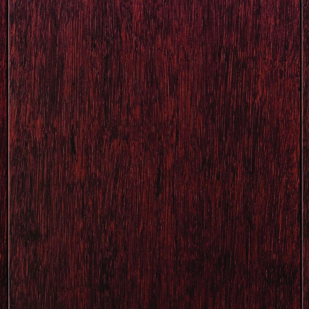 Home Legend Strand Woven Cherry 9/16 in. Thick x 4-3/4 in. Wide x 36 in. Length Solid T&G Bamboo Flooring (19 sq. ft. / case)
