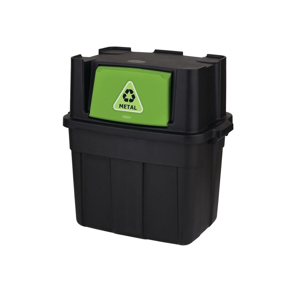 home depot recycling rubbermaid 24 5 gal stackable recycling bin 1803653 the 30625