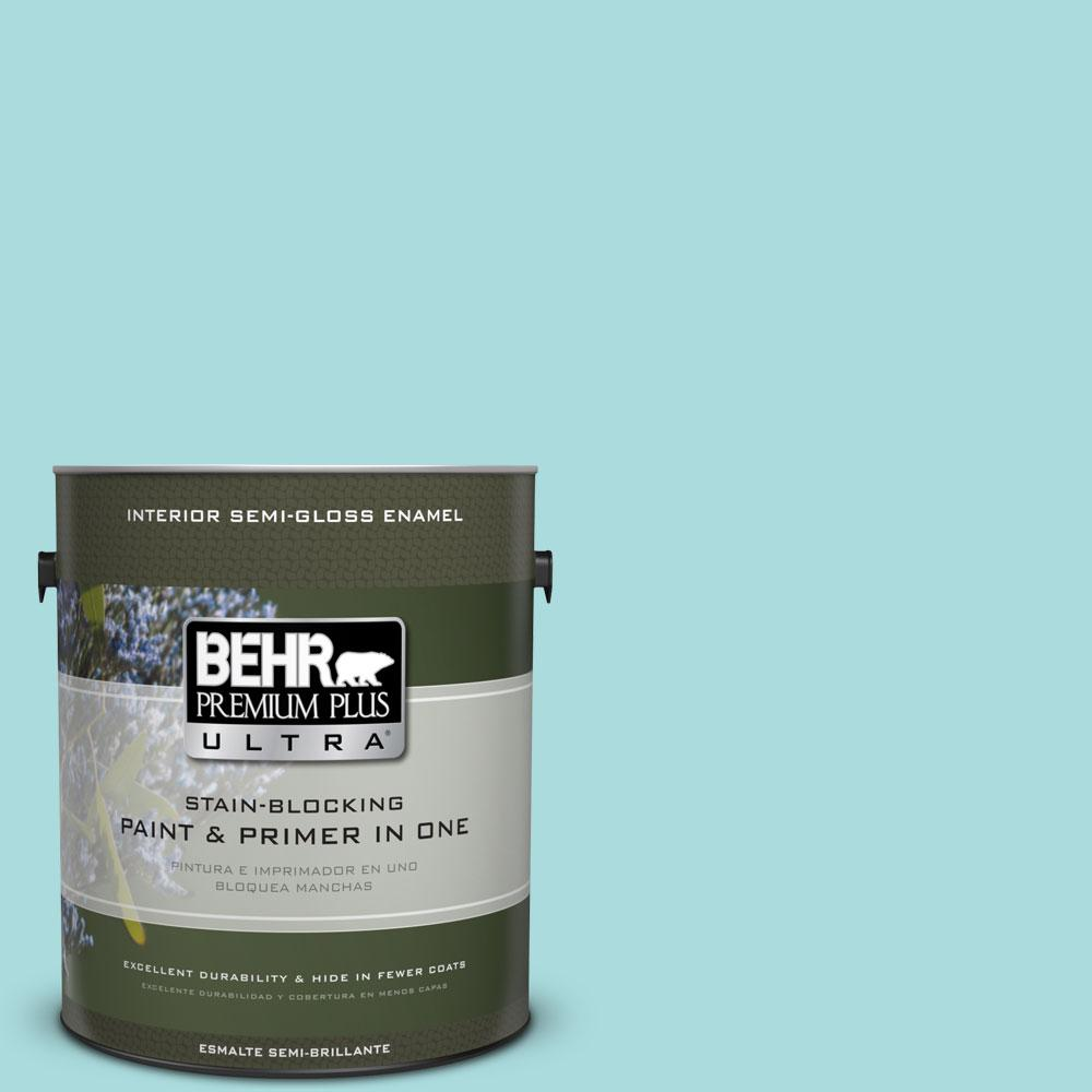 1 gal. #M460-2 Beachside Drive Semi-Gloss Enamel Interior Paint