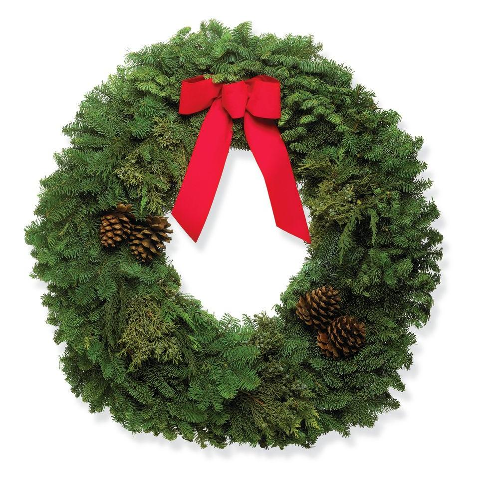 30 in. Mixed Wreath with Bow (In-Store Only)