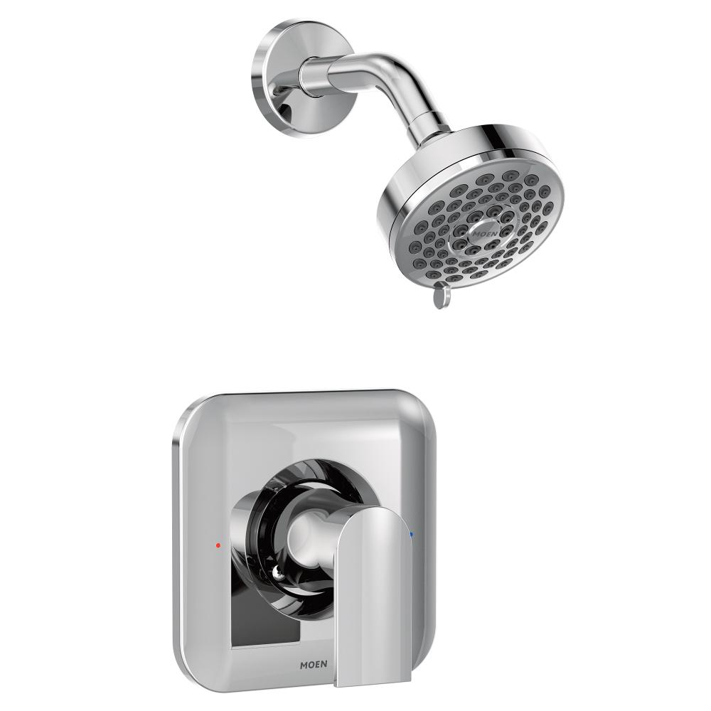 MOEN Genta 1-Handle Wall-Mount Shower Only Faucet Trim Kit in Chrome