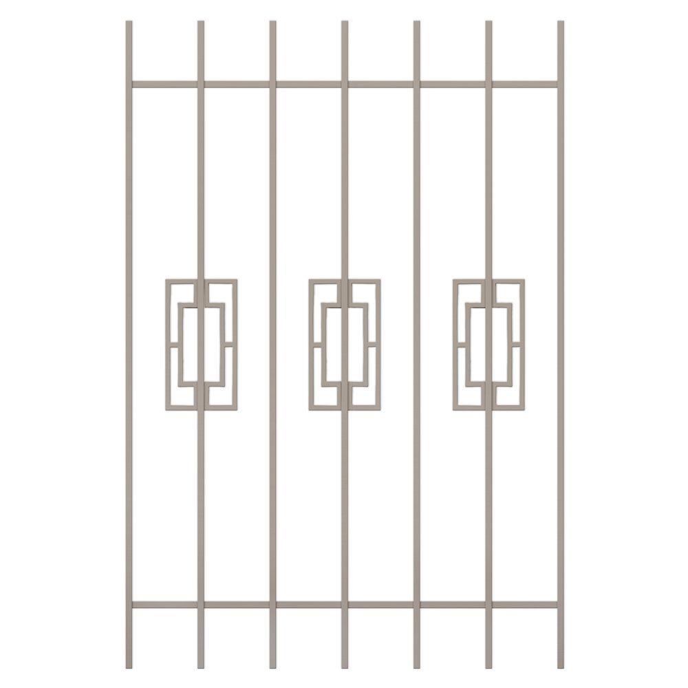 Unique Home Designs Modern Trifecta 36 in. x 54 in. Tan 7-Bar Window Guard-DISCONTINUED
